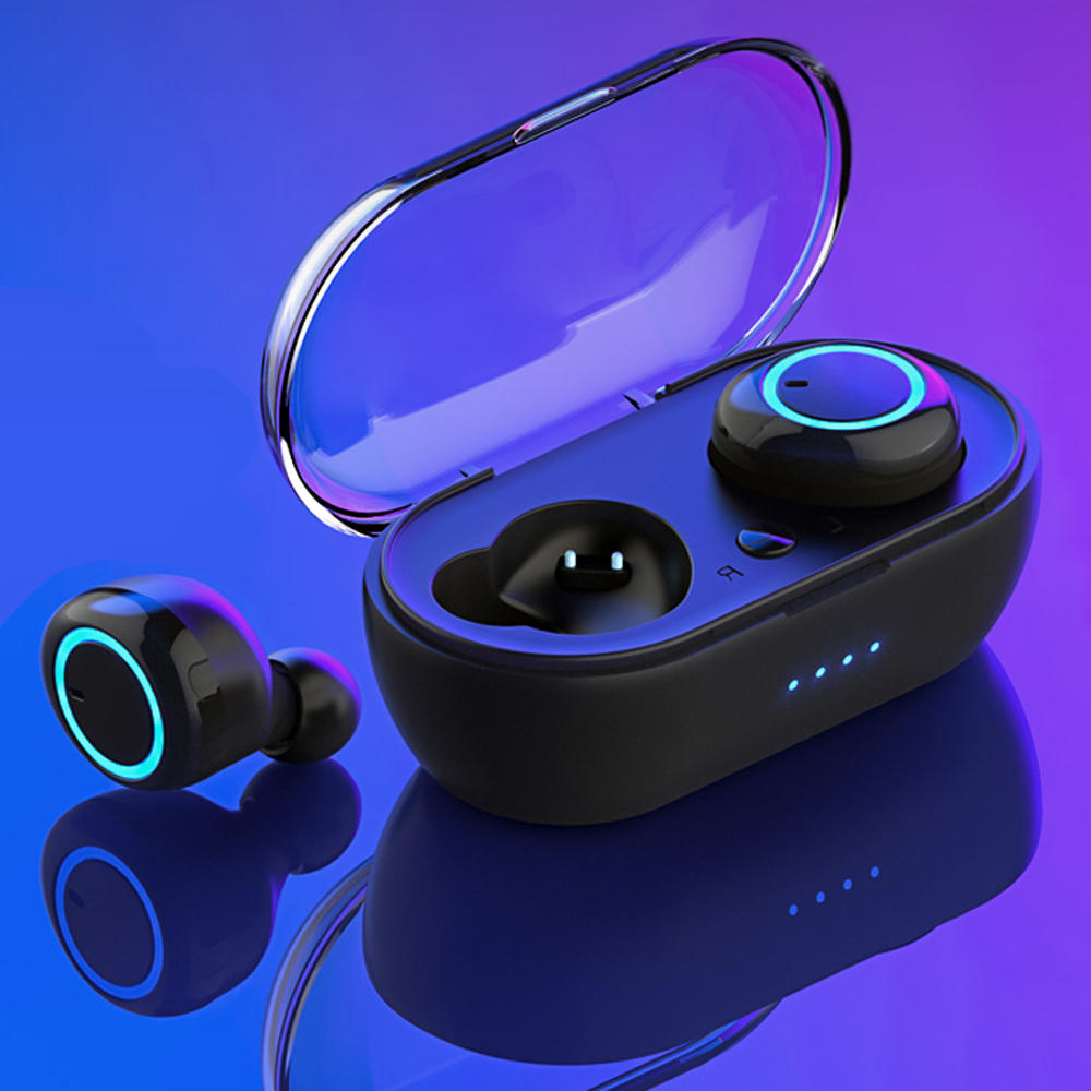 HF-D10: TWS bluetooth 5.0 Wireless Earbuds Smart Touch Binaural Calls Wireless Hifi Earphone With Charging Box