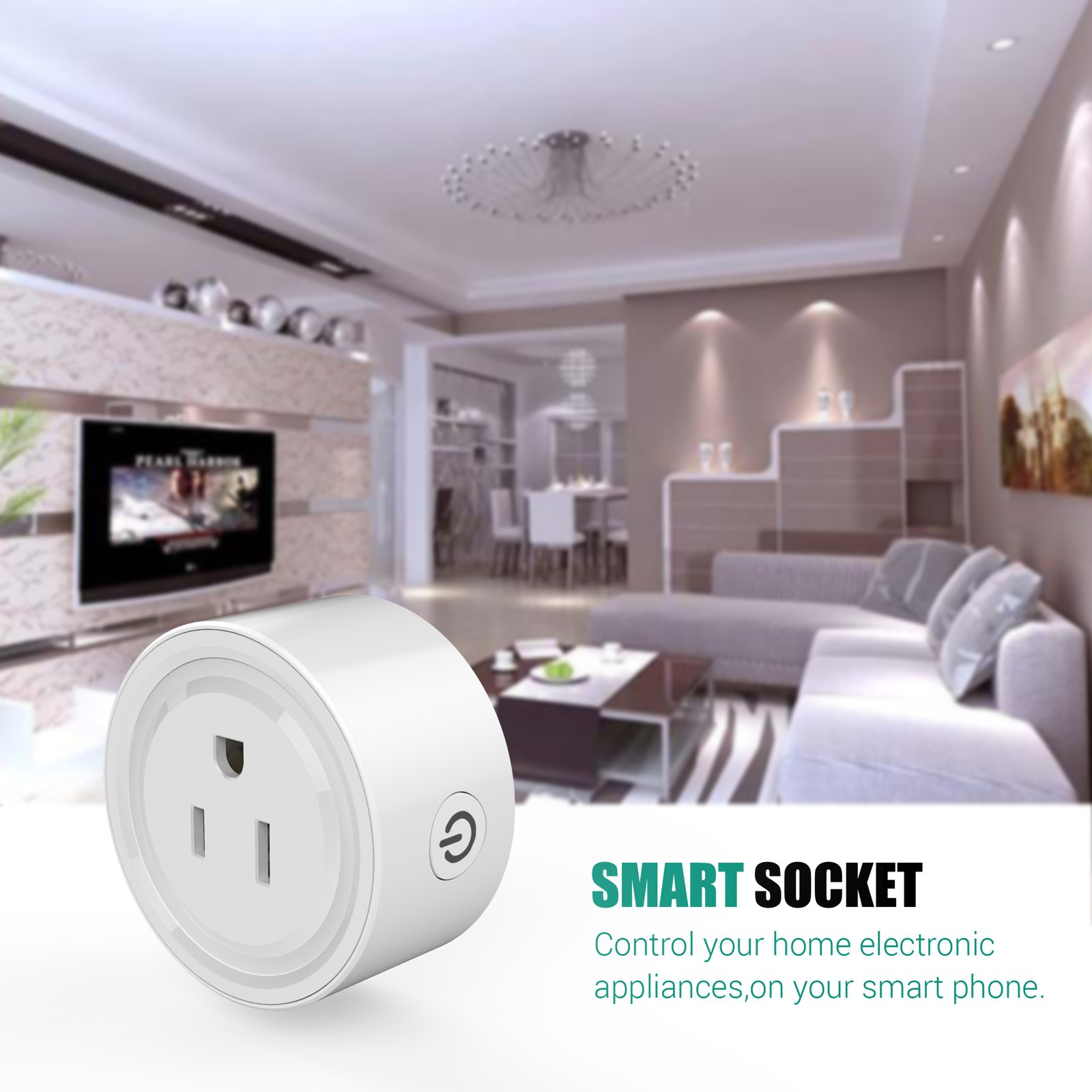 HF-SP1: Hyfai Wi-Fi Enabled Wireless Mini Smart Power Plug/Socket Outlet - Click Image to Close